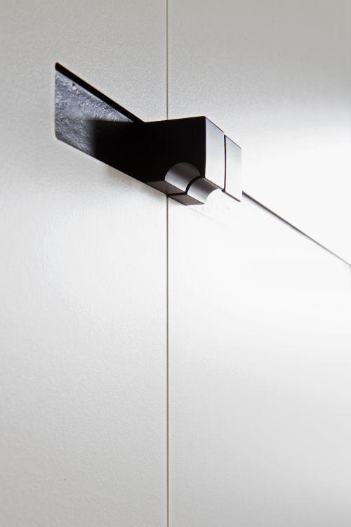Detail meubelgreep zawrt - wit