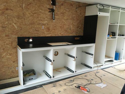 Installatie van keuken