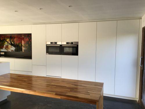 Keuken met foto op gasplaat