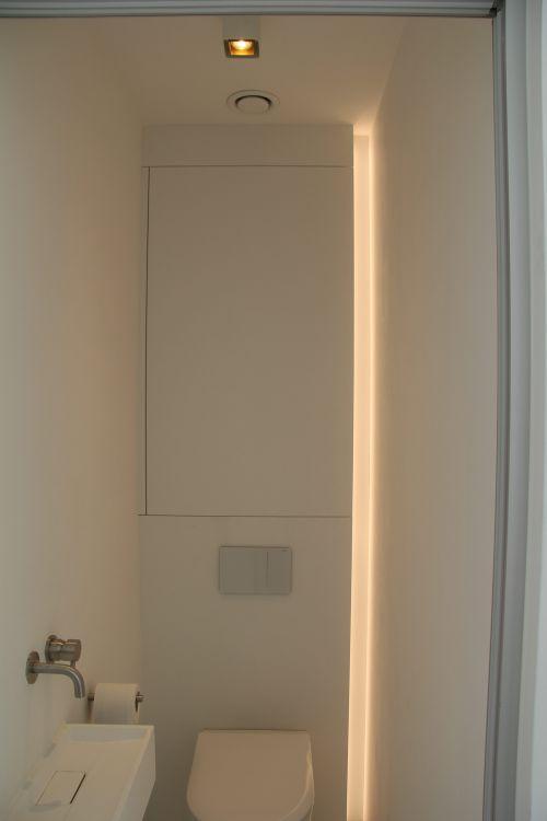 bewaar toilet kast met led verlichting