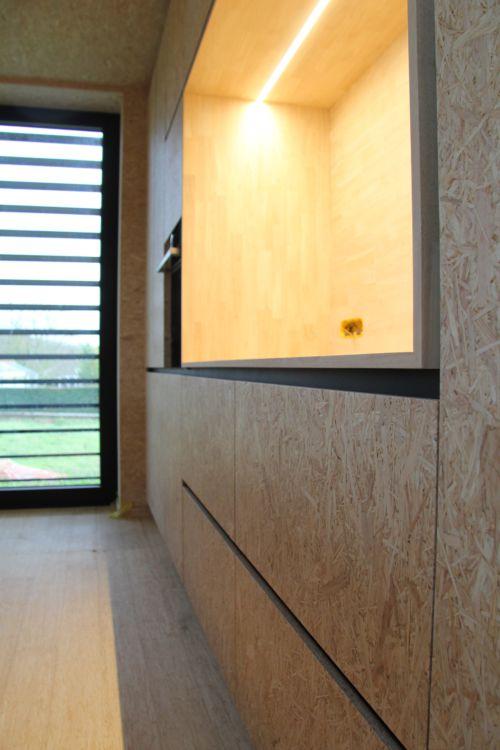 keukenwand OSB