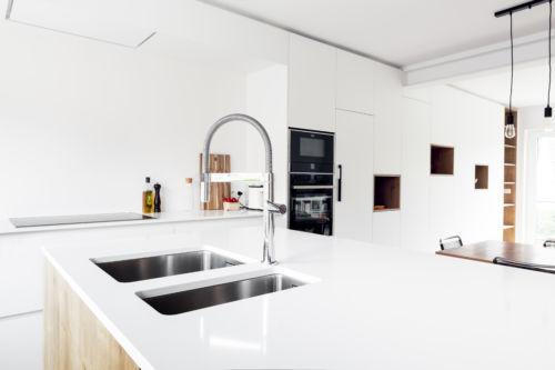 Keuken wit modern Sint-Denijs Westrem
