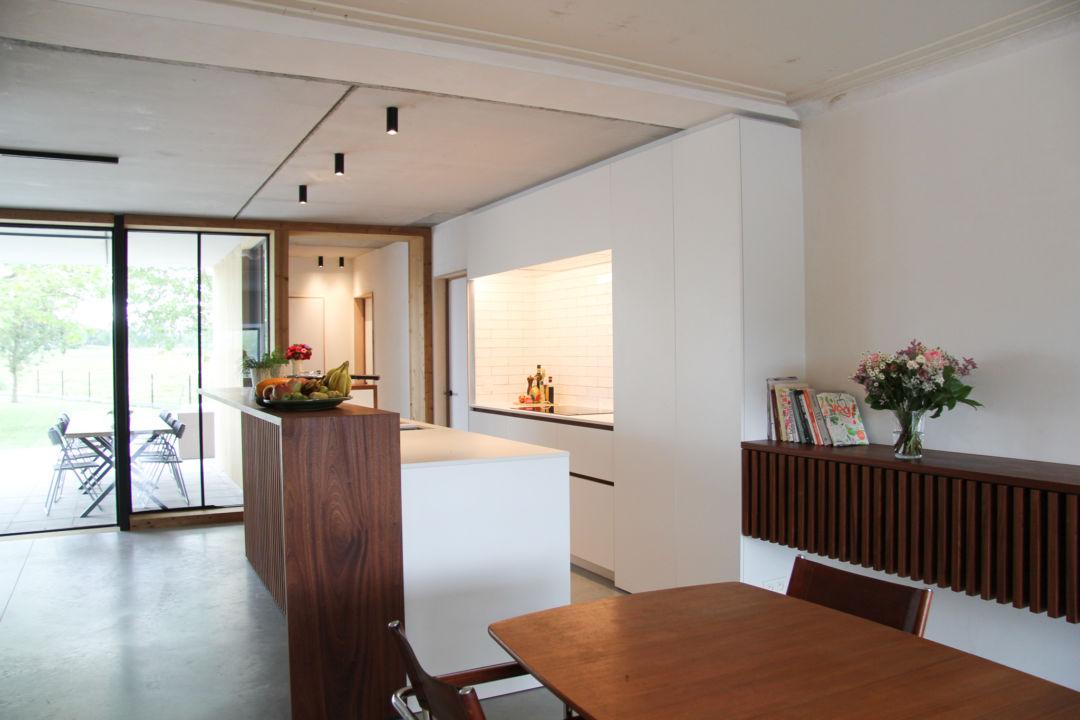 Keuken wit met dekton zenith