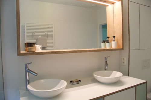 badkamerspiegel uit multiplex