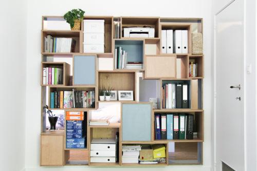 boekenkast uit nissen