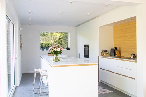keuken met fineer details