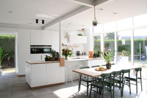 keuken met bamboo accenten