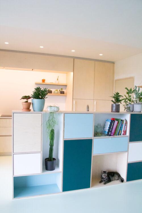 Multiplex keuken, plywood met laminaat