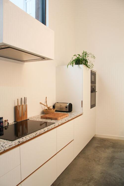 strakke keuken en fineer details