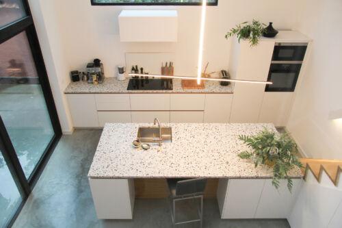 terrazzo werkblad en fineer details